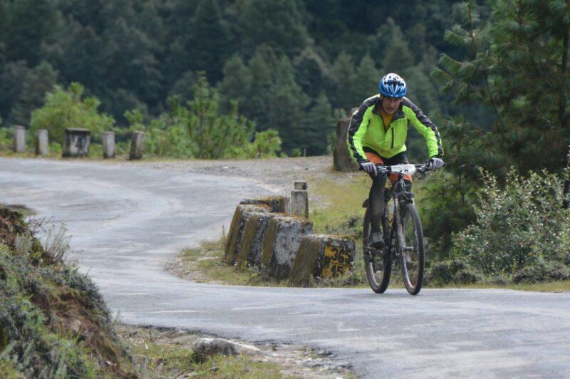 Slávek pískatý ml. na trase závodu Tour of the Dragon