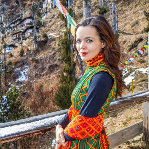Lilia K. je patronkou projektu podpory bhútánského kláštera Kila Gompa